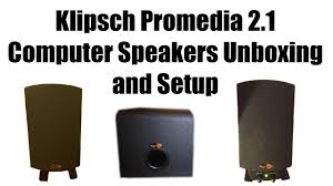 klipsch promedia 2 1 official unboxing and setup klipsch promedia 2 1 official unboxing and setup