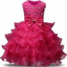 <b>Infant Flower Girl Dress</b> Ball gowns layered Dresses For Girl Party ...