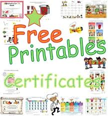 Children Certificate Template Nutrition And Fitness Certificates For Children Printable Awards