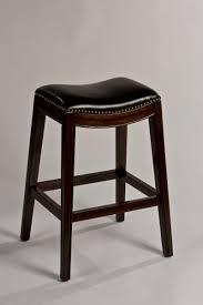 hilale sorella non swivel backless bar stool espresso black pu