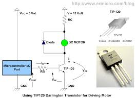 using transistor as a switch ermicroblog by using 5 volt power supply and dc motor 12 volt and 1 a maximum operating current