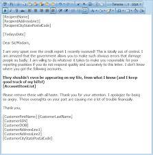 credit repair letter library free credit repair letters