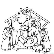 Nativity scene coloring page from jesus nativity category. Nativity Coloring Pages Birth Of Jesus Christ Coloring4free Coloring4free Com