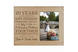 personalized 20th anniversary photo frame