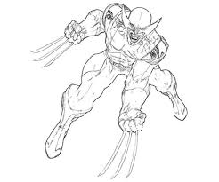 Small Picture Cute Wolverine Coloring Pages Wolverine Coloring Pages Image 9