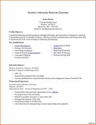 Extraordinary Resume For College Student Seeking Internship With