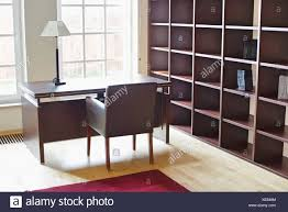 apartment home office. Empty Wooden Shelves In Home Office - Stock Image Apartment B