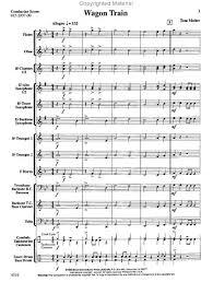 wagon wheel sheet music sheet music wagon train concert band