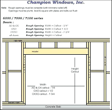french door rough opening rough opening for inch exterior door rough opening door for inch interior