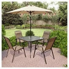5 piece patio set with umbrella