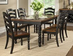 image of black dining room chairs set