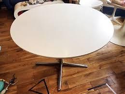 retro white round dining table replica tulip 60 s style