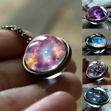 Solar System Universe <b>Galaxy Necklace Vintage</b> Star Moon Style ...
