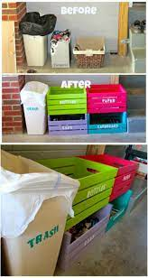 20 Diy Home Recycling Bins That Help You Organize Your Recyclables Diy Crafts