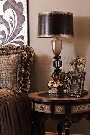 Old World Bedroom Decor Old World Bedside Table Rich Design Dark Stain Circular Design