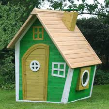 lawn garden cute green birdhouse style garden playhouse design inspiration with yellow wood door