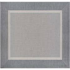 recife stria texture champagne grey 9 ft x 9 ft square indoor