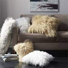 mongolian fur pillow. Brilliant Mongolian Mongolian Lamb Pillow Covers  Bolster Saved View Larger Roll Over Image  To Zoom On Fur