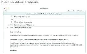 Sample Email For Sending Resume Sample Email For Sending Resume