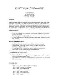 Gallery Of Functional Cv Example In Word And Pdf Formats Examples