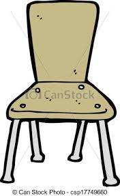 Delighful School Chair Drawing Cartoon Old To Design Decorating