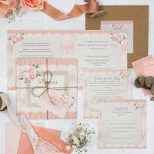 Sample Of Weeding Invitation Coral Haze Wedding Invitation Sample Sarah Wants Stationery
