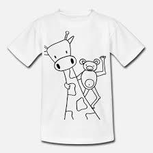 Kleurplaat Giraf Aap Teenager T Shirt Spreadshirt