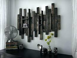 wood and iron wall decor artwork for walls distressed metal art plate design ideas with regard