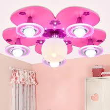 children bedroom lighting. pink girl bedroom light flower petal children room ceiling lamp baby led eye protectionl luminaire lighting