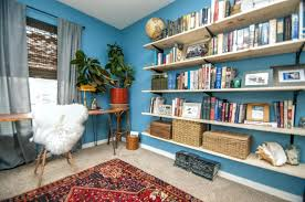 eclectic office furniture. Fascinating Eclectic Blue Home Office Furniture Color Schemes