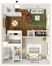 1br/1ba Gardens 714sq   The Meadows Apartments
