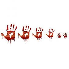 Buy LKXHarleya <b>Halloween</b> Bloody <b>Hands</b> Car Vinyl Sticker Fun ...