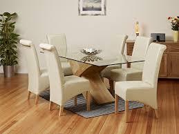 glass dining table oak legs designs