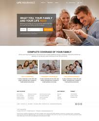 responsive life insurance website design for professional company lpdesign
