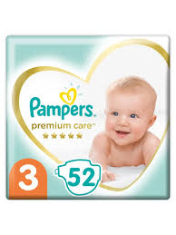 <b>Подгузники Premium</b> Care, Размер 3, 6-10кг, 52 штуки <b>Pampers</b> ...