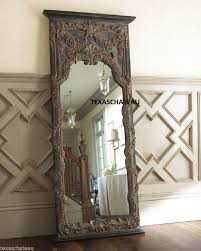 extra large french baroque mirror floor full length leaner antique trumeau style antique dresser framed leaning mirror shabby chic