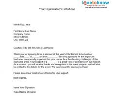 business sponsor letter template. sample letters for sponsors