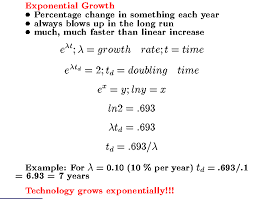basics of exponential growth