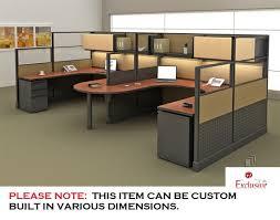 office desk cubicle. Simple Desk PEBLO Cluster Of 2 Person U Shape Office Desk Cubicle Workstation Inside