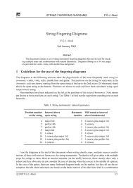 String Fingering Diagrams Manualzz Com