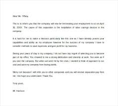 Example Letter Of Termination Example Of Termination Letter For Employee Yupar Magdalene