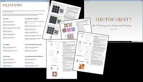Meer informatie over EQ7 - Electric quilt software & Learn EQ7 by going through the 22 available software lessons Adamdwight.com