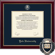 diploma frames the yale bookstore church hill classics masterpiece diploma frame bachelors masters phd online only