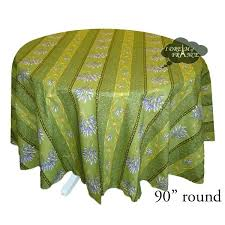 round tablecloth 90 inch round lavender green cotton coated tabcloth by black tablecloth 90 x 156
