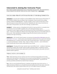 Gym Instructor Resume Free Resume Example And Writing Download