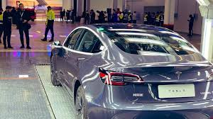Does china have cars?maybe a few at least? Tesla Delivers Its First Made In China Cars Bbc News