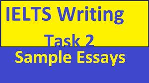 ielts writing task sample essays