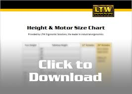 Table Top Size Chart Ltw Vip Resource Table Top Standing Height Chart Ltw