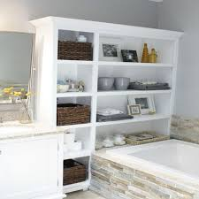 Diy Built In Storage Fine Built In Bathroom Storage Builtin Wall Shelves Are Storing