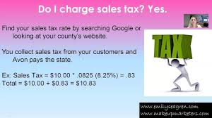 How To Charge Sales Tax On Avon Orders Avon Sales Tax